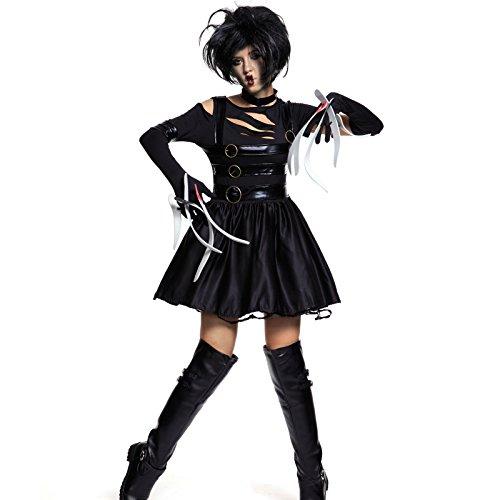 [Womens Adult Miss Edward Scissorhands Halloween Fancy Dress Costume Outfit] (Scissorhand Edward Costume)