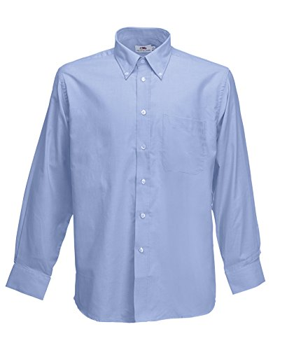 Fruit Of The Loom - Camicia Maniche Lunghe - Uomo (L) (Azzurro)