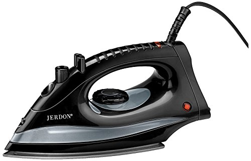 Jerdon J513B Midsize Auto Off Steam And Spray Self Clean Iron, Black Finish, 36.8 Ounce