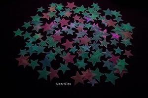 120+ Piece Radiant Rainbow Glow in the Dark Stars from DirectGlow LLC