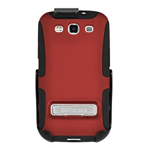 Seidio BD2-HK3SSGS3K-GR ACTIVE Case with Metal Kickstand and Holster Combo for Samsung Galaxy S III - Combo Pack - Retail Packaging - Garnet Red