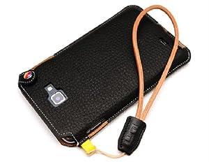 LIM'S Design Premium Leather Wrist Strap (Black)