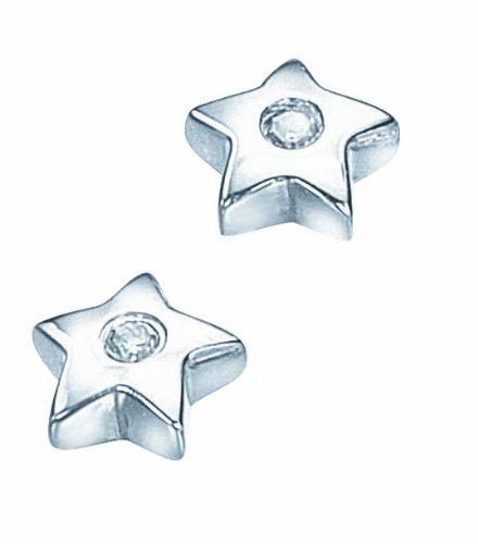 D for Diamond Children's Stud Earrings 925 Sterling Silver E 2633