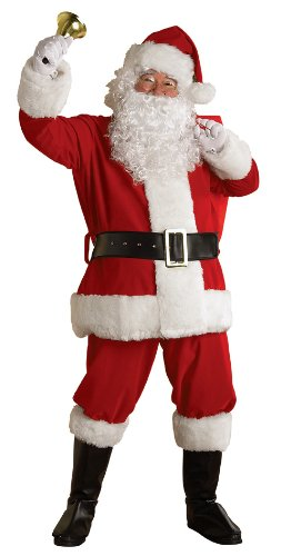 Rubie's Costume Regal Plush Santa Suit with Beard and Wig