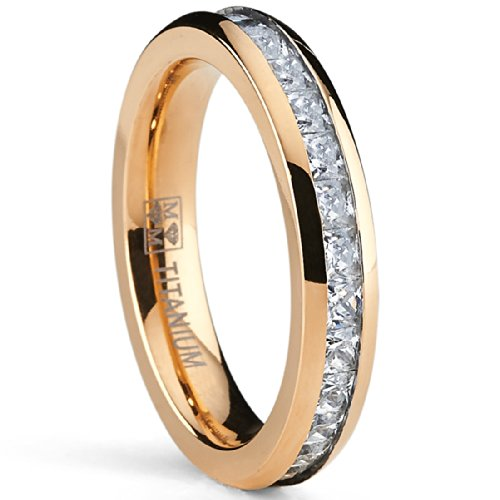 Ultimate Metals Co. ® 4MM Rose Gold Plated Princess