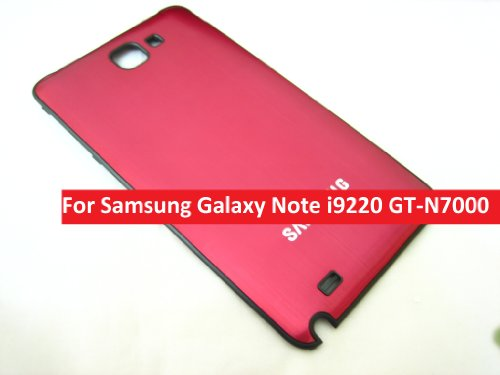 Samsung Galaxy Note I9220 Gt-N7000 ~ Metal Red Plastic Back Cover ~ Mobile Phone Repair Part Replacement