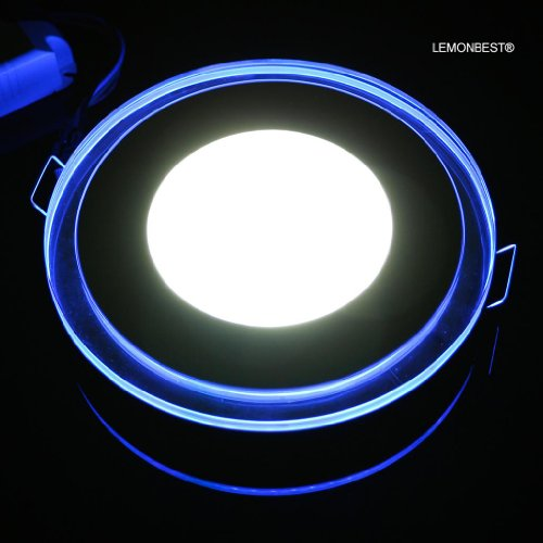 Lemonbest New Design 100-245V 20W Led Acrylic Recessed Led Panel Light Smd Ceiling Light Downlight Lamp Round 5000K~6500K Cool White - For Indoor Decoration