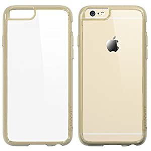 iPhone 6 Case, LUVVITT® [CLEARVIEW] iPhone 6 (4.7) Case Bumper **NEW** [Ultra Hybrid Clear View Armor Series] [Transparent Champagne Gold] Air Cushion Technology Corners + Bumper Case with Clear Back Panel - Retail Packaging - Bumper Case for iPhone 6 (4.7) (2014) - Clear / Transparent Champagne Gold
