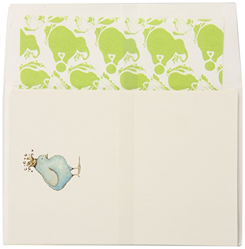 C.R. Gibson Cid Pear Imprintable Invitations and Lined Envelopes, Blue Chikadee, 10 Count