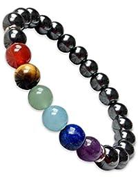 Young & Forever D'vine Hematite Stone 7 Chakras Spiritual Gift Yoga Reiki Healing Crystal Feng Shui Bracelet For...