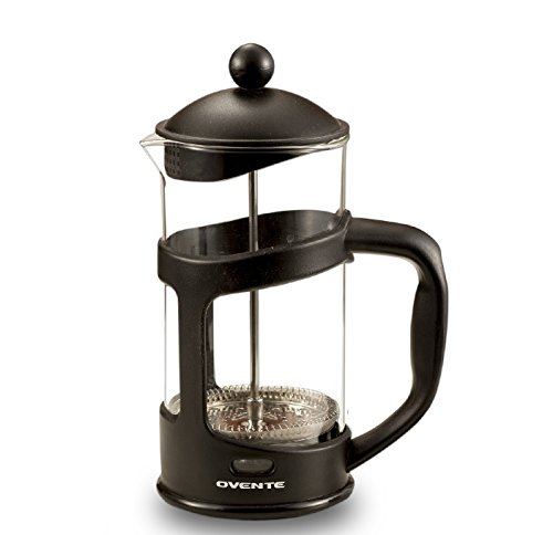 Ovente FPT12B 12oz French Press Coffee Maker, Great for Brewing Coffee and Tea, 3 cup, Black