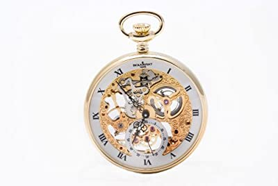 Bouverat 1919 Pocket Watch BV824101 Gold Plated Open Face