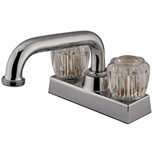 Kingston Brass KF460 Centerset Laundry Faucet with Acrylic Knob Handles