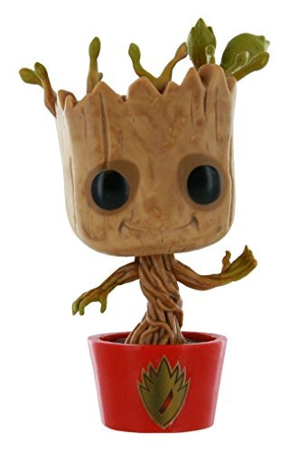 Funko Marvel Guardians of the Galaxy POP! Marvel Dancing Groot Exclusive Vinyl Bobble Head #65 [Red Pot with Ravagers Logo] by Entertainment Earth