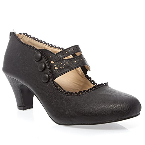 Womens-36-MINA4-Closed-Toe-Mary-Jane-High-Heel-Shoes