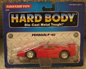 FERRARI RED F-40 BY TOOTSIETOY 1992 HARD BODY DIE CAST METAL TOUGH MODEL