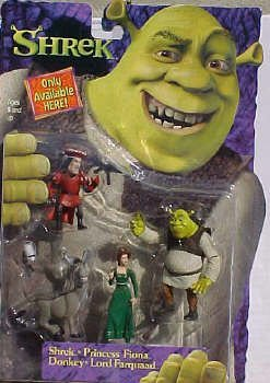 Picture of McFarlane Set of 4 Shrek Figure Mini (2 Inch High Figures) Playset: Princess Fiona , Donkey Lord Faquaad (B000C0317C) (McFarlane Action Figures)