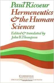 hermeneutics and the human sciences essays on language