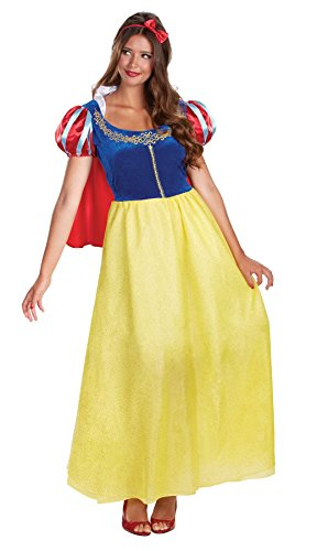 Halloween 2017 Disney Costumes Plus Size & Standard Women's Costume Characters - Women's Costume CharactersUHC Women's Disney Snow White Deluxe Princess Fancy Dress Halloween Costume, To Size XL (18-20)