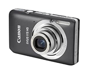 Canon IXUS 115 HS Digitalkamera (12 Megapixel, 4-fach opt. Zoom, 7,6 cm (3 Zoll) Display, Full HD, bildstabilisiert) grau