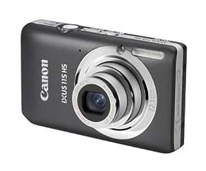 Canon IXUS 115 HS - Cámara Digital Compacta 12.1 MP (3 pulgadas LCD, 4x Zoom Óptico) - Gris (importado)