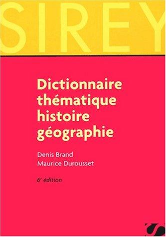 Dictionnaire thématique : Histoire
