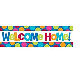 Welcome Home Giant Sign Banner by AMSCAN *