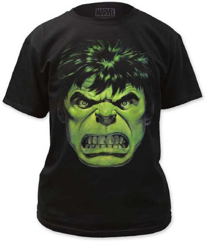 Impactmerchandising Men's Hulk Angry Face T-shirt Picture