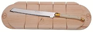 Jean Dubost Bread Knife Ivory with Baguette Board