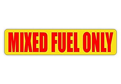 """1 Pcs Extraordinary Modern Mixed Fuel Only Car Sticker Easy to Install Motor Unleaded Truck Gasoline Size 3/4"""" x 3-1/4"""" Colors Red and Yellow"""