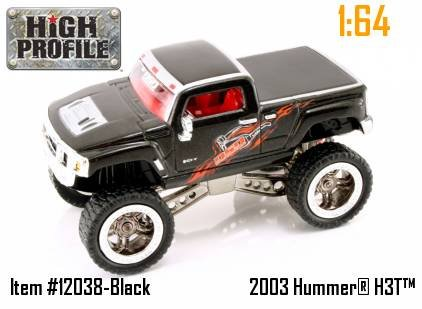 Jada Dub City High Profile Black Hummer H3T Concept 1:64 Scale Die Cast Truck Car (Jada Toys High Profile 1 64 compare prices)