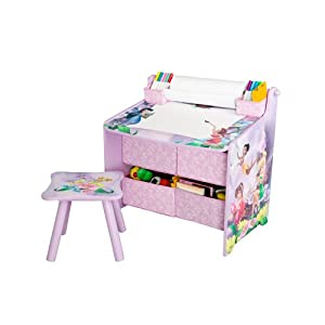 Disney Fairies Art Table With Paper Roll Wipe Board And Storage from Delta Enterprise