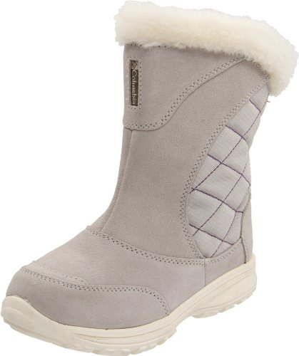 Columbia Sportswear BY2039 Ice Maiden Pull On Winter Boot (Little Kid/Big Kid),Silver Lining/Hyacinth,7 M US Big Kid