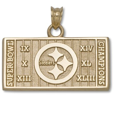Pittsburgh Steelers 6X Champs 14kt Gold/14kt Yellow Gold