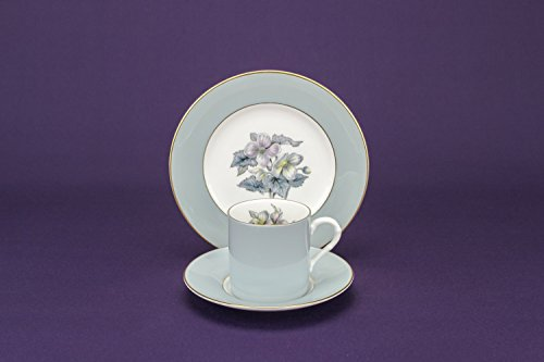 6 Persons Mid-century Modern Luxurious Floral TEA SET Royal Worcester Cup Serving Porcelain Circa 1960 English LS