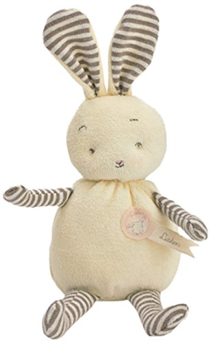 Bunnies By The Bay Hoppy Bunny Plush Toy, White/Grey Stripe