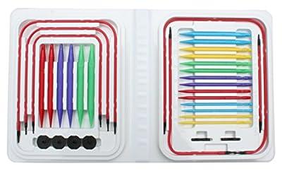 Denise Needles Denise Interchangeable Knitting Needles Kit, Blue Brights