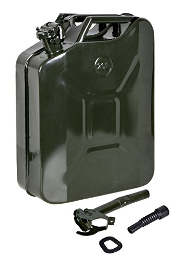 TMS 5 Gal 20L Gasoline Gas Fuel Caddy Tank Emergency Backup Army Military (Military Jerry Can compare prices)