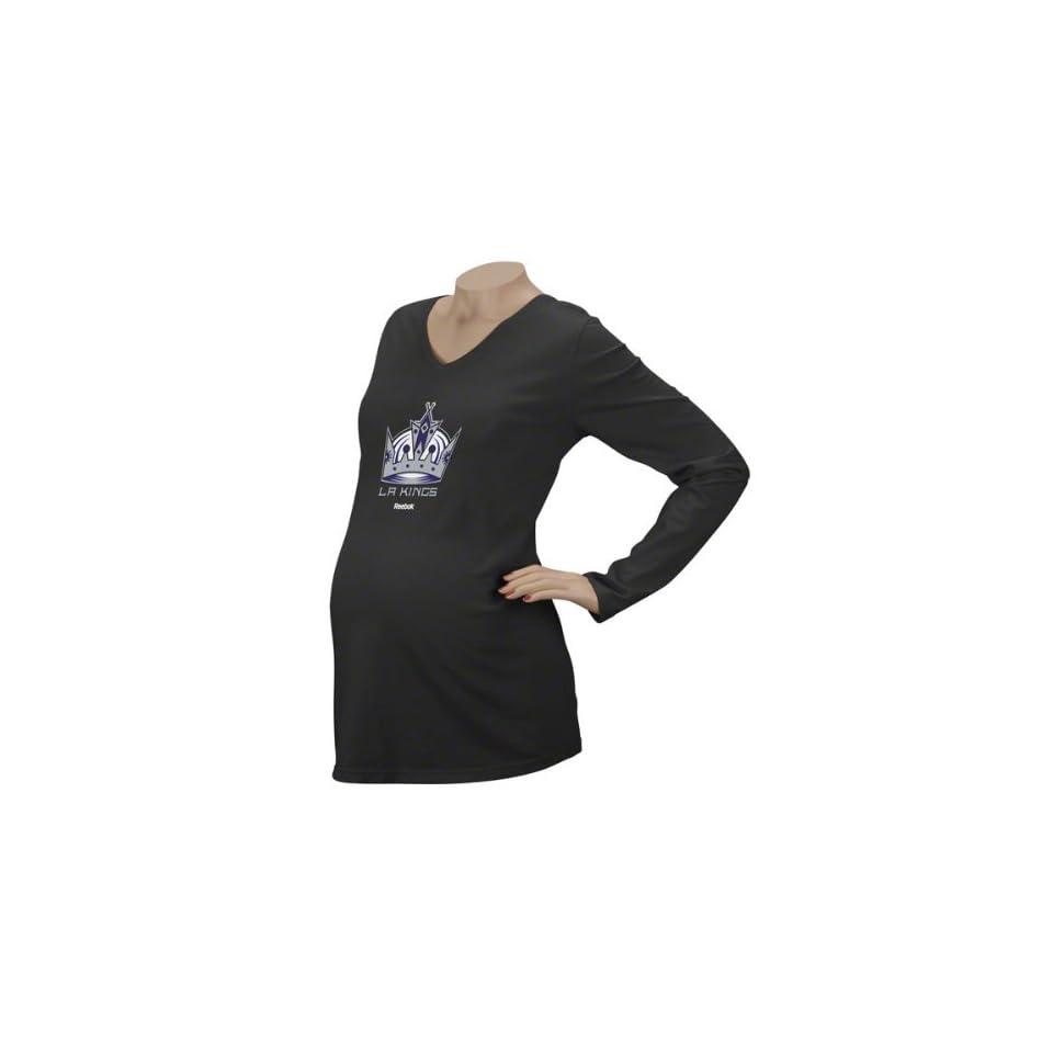 Los Angeles Kings Womens Logo Premier Too Maternity Long Sleeve T Shirt