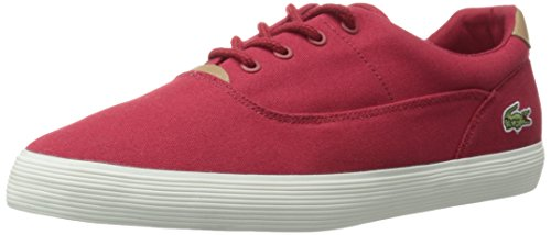 Lacoste Men's Jouer 316 1 Cam Fashion Sneaker, Red, 8 M US