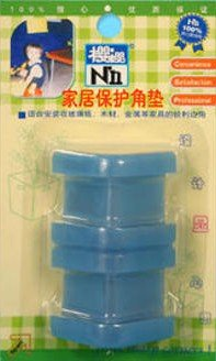 Set of 4 Rubber Corner guard Protectors, Blue -Baby / Toddler Proof your Home