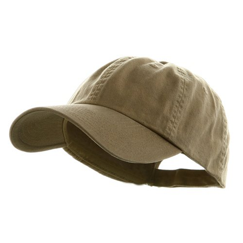 Low Profile Dyed Cotton Twill Cap - Khaki W39S55D