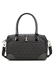 M&S Collection Quilted Bowler Bag