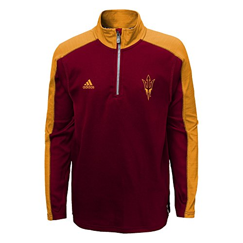 Arizona State Sun Devils Adidas Youth ClimaLite Quarter Zip Pullover