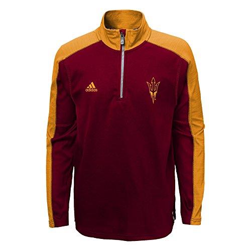Arizona State Sun Devils Adidas Youth ClimaLite Quarter Zip Pullover