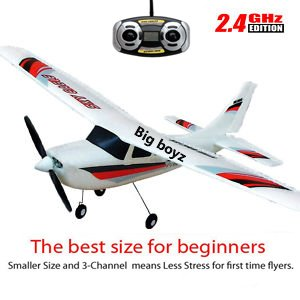 radio control air plane Cessna 3 channels specially designed for beginners -- UK stock