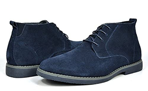 05. BRUNO MARC MODA ITALY CHUKKA Men's Classic Original Suede Leather Desert Storm chukka boots