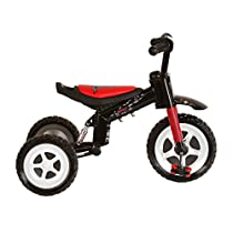 Polaris Dragon Tricycle with Steel Frame and Suspension Fork, 10 inch Wheels, for Boys and Girls, Red/Black