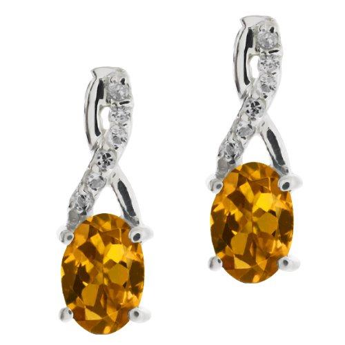 1.20 Ct Genuine Oval Red Garnet Gemstone Sterling Silver Earrings