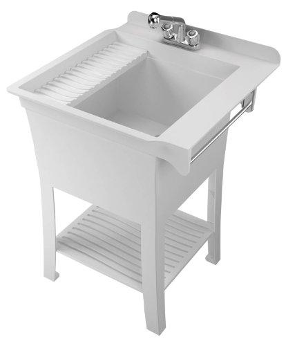 Cheap Utility Sink : Cheap ASB 103090 Haven All-In-1 Utility Tub, White